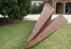 20080409_1854 Ace (williewonker) Tags: art public plane paper rust funny steel aircraft australia victoria f 111 fold 2008 werribee helenlempriere nationalsculptureaward f111