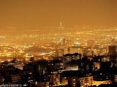 THE BIG CITY, TEHRAN (  ) (arash_rk) Tags: city tower persian big iran iranian tehran pars cityatnight milad  persiangulf tochal the mellat   olympuse20    arashrazzaghkarimi   tehrancityoflights  parsianpark