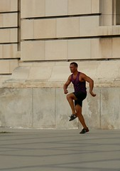 (galit lub) Tags: street city people urban man movement havana cuba bodylanguage