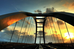 Newport SDR Bridge, at Sunset (-terry-) Tags: bridge sunset sky cloud wales sdr dusk newport thumbsup monmouthshire a48 abigfave superaplus aplusphoto flickrchallengewinner 15challengeswinner goldstaraward newportsdrbridge