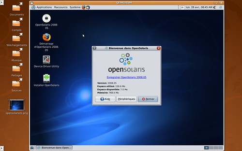 Le bureau d'OpenSolaris