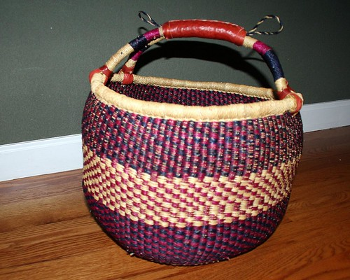 African basket to hold knitting