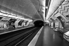 Mtro parisien (Cristiana Gobel) Tags: bw paris subway metro mtroparisien 2704 cristianavasile