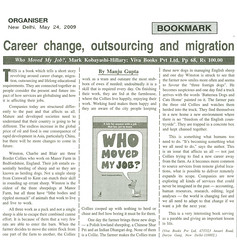 Delhi Organiser - Book Review of 'Who moved my job?'