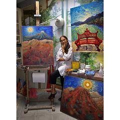~studio shot~ (uteart) Tags: selfportrait studio artist paintings explore utehagen uteart copyright2011 seeallmyworkonmywebpageahrefhttpwwwutehagencomrelnofollowwwwutehagencoma