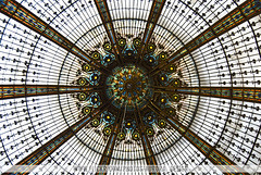 Galeries Lafayette stained-glass dome - Paris (Naomi Rahim (thanks for 5 million visits)) Tags: travel paris france shopping europa europe centre 4th stainedglass artnouveau dome galerieslafayette arr9th lpsublime