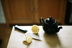 an outtake (brianwferry) Tags: film photoshoot lemons teapot outtake forselectismcom fancyinthepantry