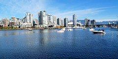 Blue Sky Over Vancouver (iano50) Tags: friends vancouver clouds bluesky yaletown falsecreek englishbay stanleypark yachts granvilleisland sailboats skytrain seabus bclions scienceworld bcplace northshoremountains 2010winterolympics portofvancouver speedboats beautifulbc neverbeenthere granvilleislandferries tourismbc