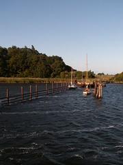 K�ste der Insel Hiddensee bei R�gen am Abend