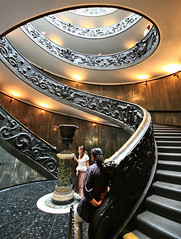 Vatican Stairs (` Toshio ') Tags: people italy woman vatican rome building art girl stairs spiral bravo europe catholic artistic interior religion europeanunion vaticancity toshio aplusphoto diamondclassphotographer platinumheartaward exitstairs