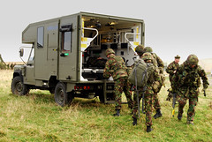 CASEVAC into a Battlefield Ambulance (The Real Jimmy K) Tags: training soldier army demo mod military ambulance british landrover britisharmy troop firstaid casualty firepower casevac battlefieldambulance