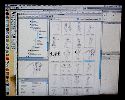 Judith's drawings stored in Photoshop