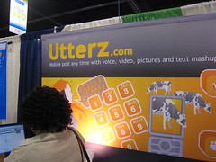 The Utterz booth