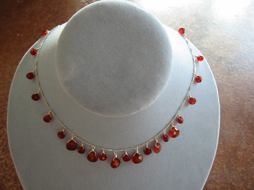 Carnelian necklace by Hannahmade