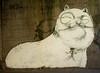 Gatto sornione by Hitnes (Smeerch) Tags: italy cats streetart rome roma muro wall cat graffiti italia spray ponte walls graffito gatto gatti aerosolart lazio muri ostiense graffi graffio viaostiense sornione hitnes biancowhite gattosornione hitnesorg