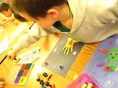Oisin works on his Khamsa project