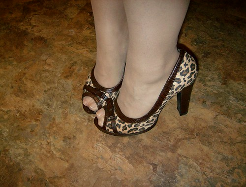 Leopard pumps, modern 40's inspired