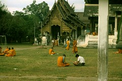 Thailand .Chang Mai Novice Monks.(81) (pjwar) Tags: thailand 1982 religion buddhism changmai theravadabuddhism pjwar