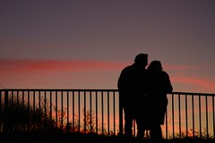 couples coupling sunseting