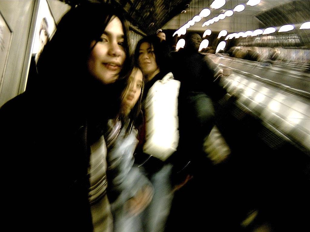 teenage girls on the Tube