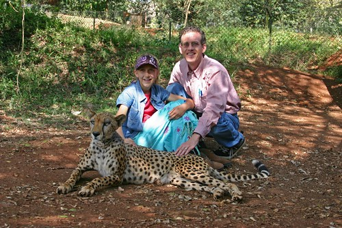 In the Cheetah enclosure at the Nairobi Safari Walk