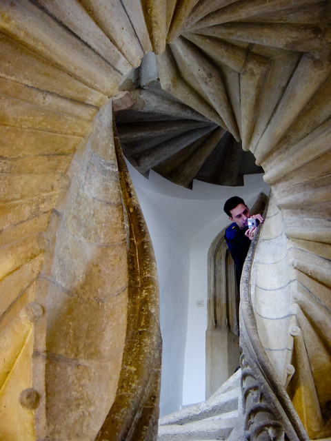 Double-spiral Staircase in Graz, Austria