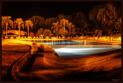 Night at the pool (Kaj Bjurman) Tags: brazil pool brasil night eos do cataratas das terra hdr foz kaj iguacu cs3 photomatix 40d dascataratashotel bjurman dascataratasresort dascataratasresorthotel