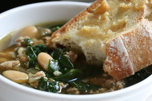 Italian White Bean, Spinach and Turkey Soup