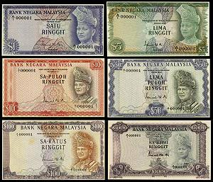 First Malaysian Banknotes