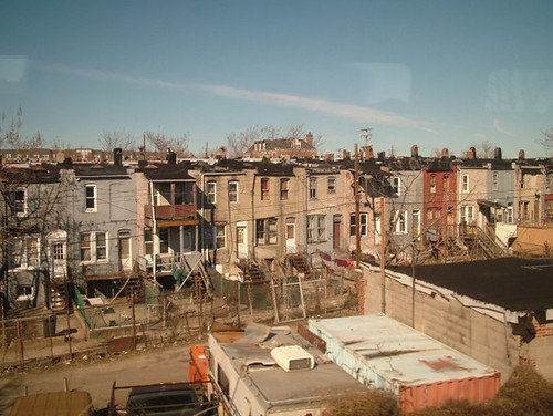 East Baltimore from Amtrak train by mr cookie.
