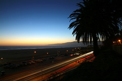 (tylerdurden1) Tags: california longexposure sunset cars dusk santamonica palm palmtrees pch pacificocean socal streaks pacificcoasthighway canonef24105mmf4lisusm