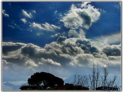 Clouds in the blue sky / Happy Easter (RayDS) Tags: pictures blue sky italy storm clouds landscape photo nuvole foto sony cielo dsc pompei skyplay h5 rayds