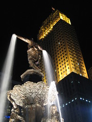 Spring has arrived for the Genius of Water! (bousinka) Tags: ohio tower art fountain night square downtown cincinnati oh artdeco deco 2008 carew trudy2