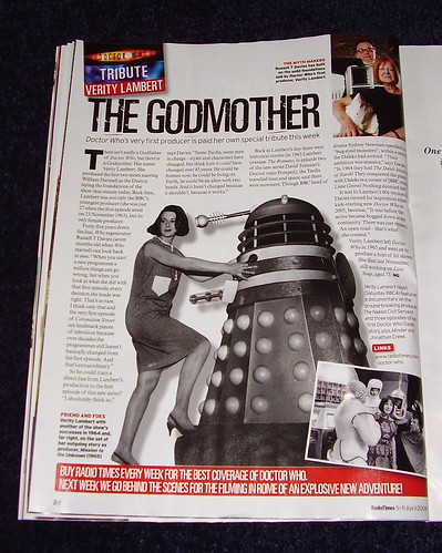 DR WHO RADIO TIMES - Verity Lambert