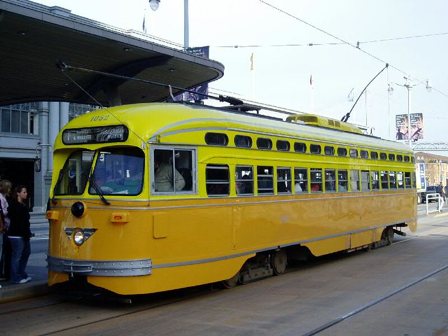 PCC Car at San Francisco F-Line
