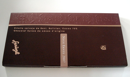 Sprüngli Cru Sauvage Swiss chocolate