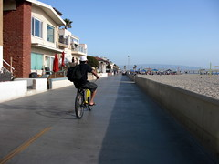 Ride back to Hermosa on Strand