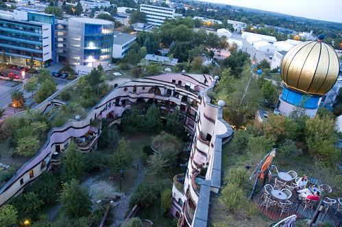 Hundertwasser's Waldspirale in Darmstadt