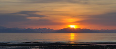 Anchor Point, Sunset accross Cook's Inlet (oktronic) Tags: mountains bears adventure alaksa