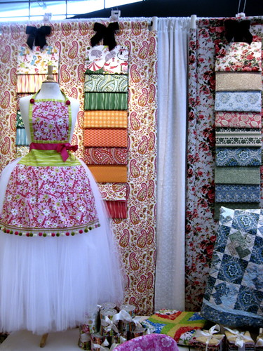 Anna Griffin's booth at Windham fabrics