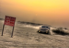 Taho in Action (Talal Al-Mtn) Tags: car truck canon gold shot 4x4 action no motor fav kuwait suv v8 talal q8 taho kwt 450d alwafra almtn talalalmtn