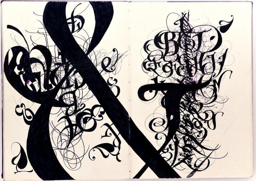 Claudio Gil - et&et (Sketchbook spread. Felt marker, 33x23cm,   2006)
