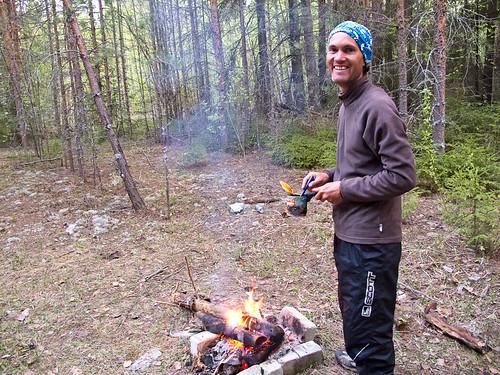 Justin + campfire cake