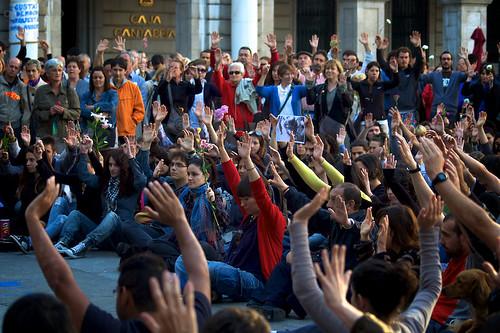 Concentracion de Indignados en Barcelona