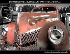 Shattered Dreams (Stephen Kinna Photography) Tags: old cars abandoned car rust mercury decay albert rusty prince forgotten american rusted sk saskatchewan eight princealbert hdr decayed specialty mercuryeight specialtycars