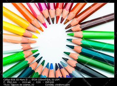Color pencils (__Viledevil__) Tags: wood pink blue red orange brown white color colour green art yellow pen pencil creativity design wooden rainbow colorful paint purple spectrum bright vibrant pastel background object group row tip write draw crayon multicolored palette