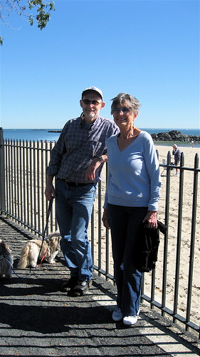 Larry and Sue at Playland Beach