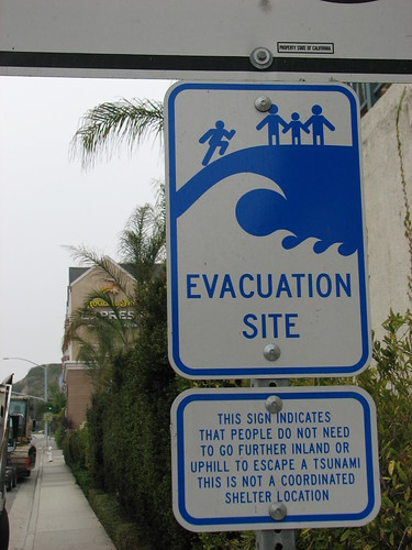 Tsunami sign next to my hotel