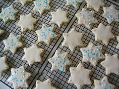 Sugar Cookies with Powdered Sugar Glaze