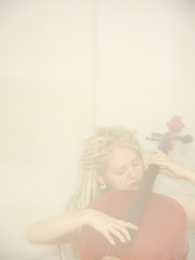 Cello (ljosberinn) Tags: music dreadlocks hands play cello dreads rakel